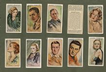 Collectable Cigarette cards Film Stars 1934, Joan Crawford , Dietrichseries